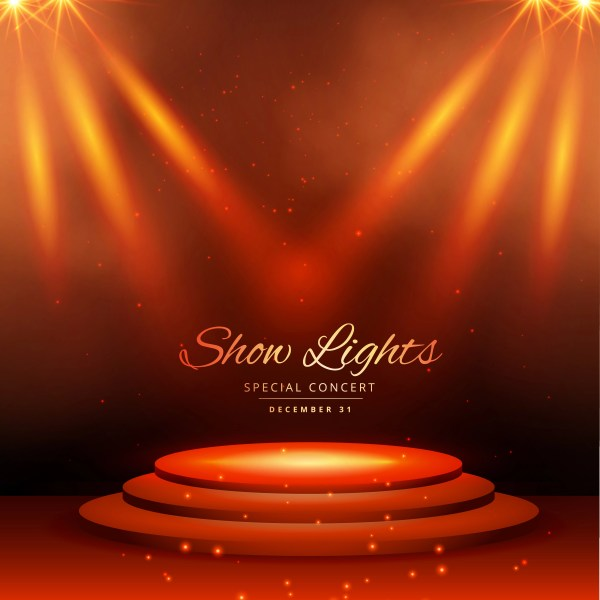 Show Spot Lights With Podium Background - Free