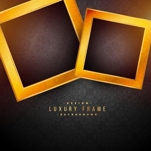 Black Background With Two Golden Frames Download Free Vector Art Stock Graphics Images