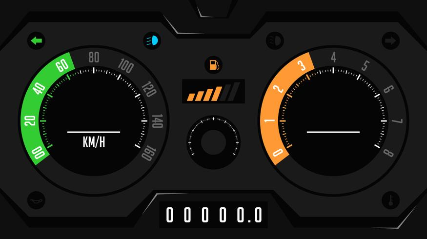 futuristic car dashboard ui
