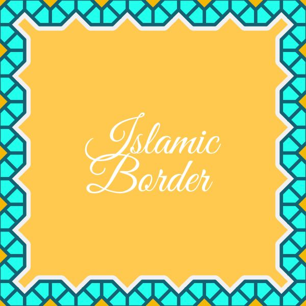 Flat Islamic Border Vector Background Download Free