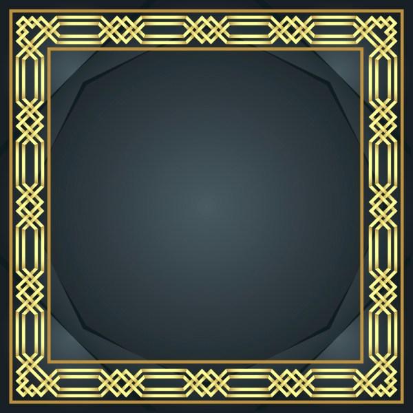 Gold Islamic Border Vector Download Free Vector Art