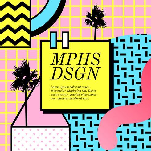 memphis design vector download