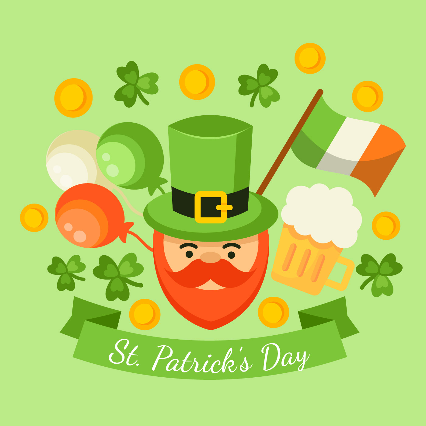 Happy St Patricks Day Vector  Download Free Vector Art Stock Graphics  Images