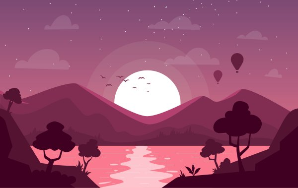 Vector Landscape Illustration - Free Art
