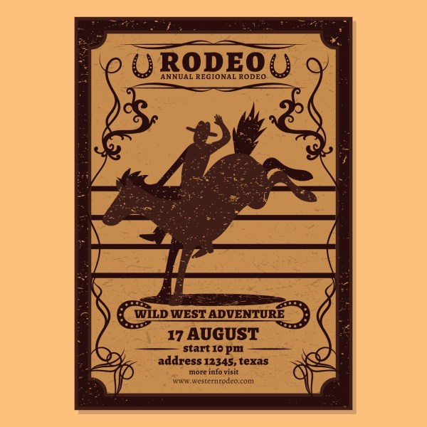 Rodeo Flyer Vector - Free Art Stock Graphics &