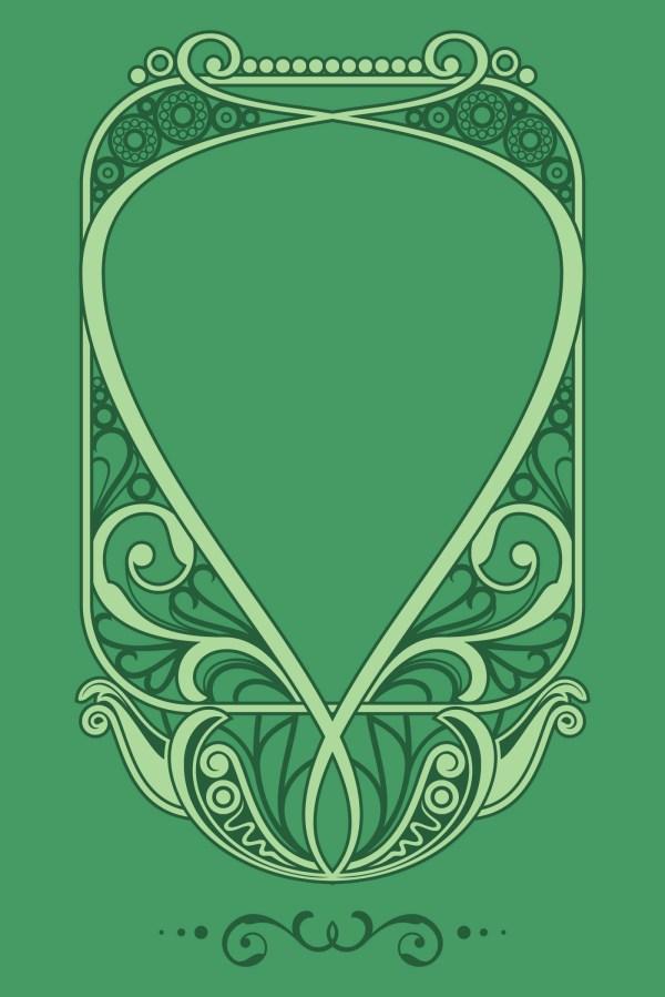 Natural Art Nouveau Frame Vector - Free Stock Graphics &