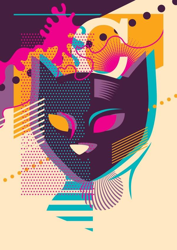 Cat Pop Art - Free Vector Stock Graphics