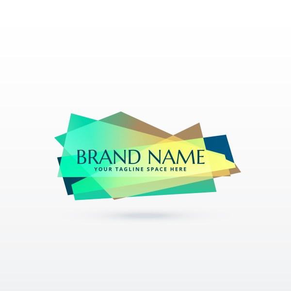 Abstract Brand Logo Concept Design - Free Vector