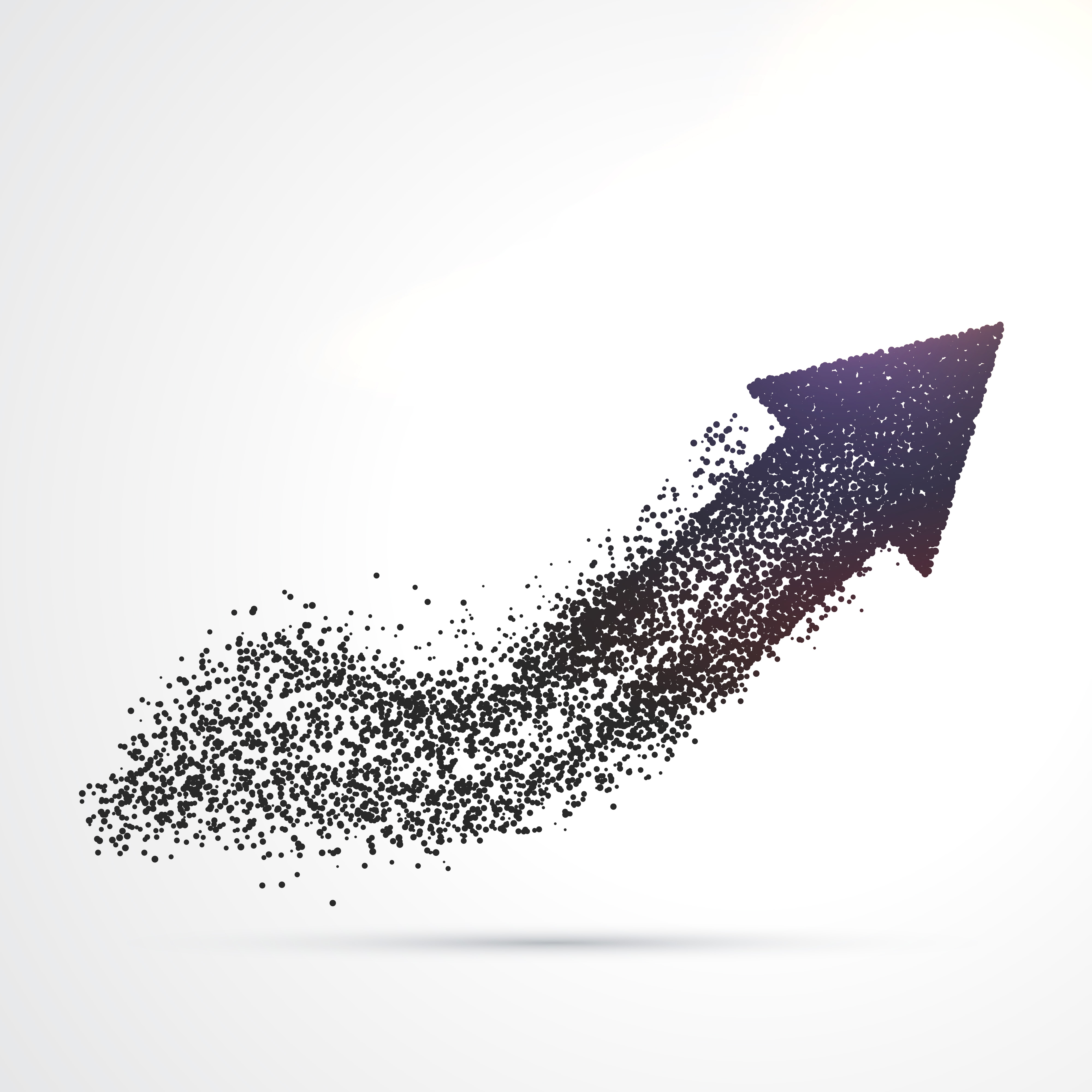 Abstract Arrow Design Made With Particles Download Free