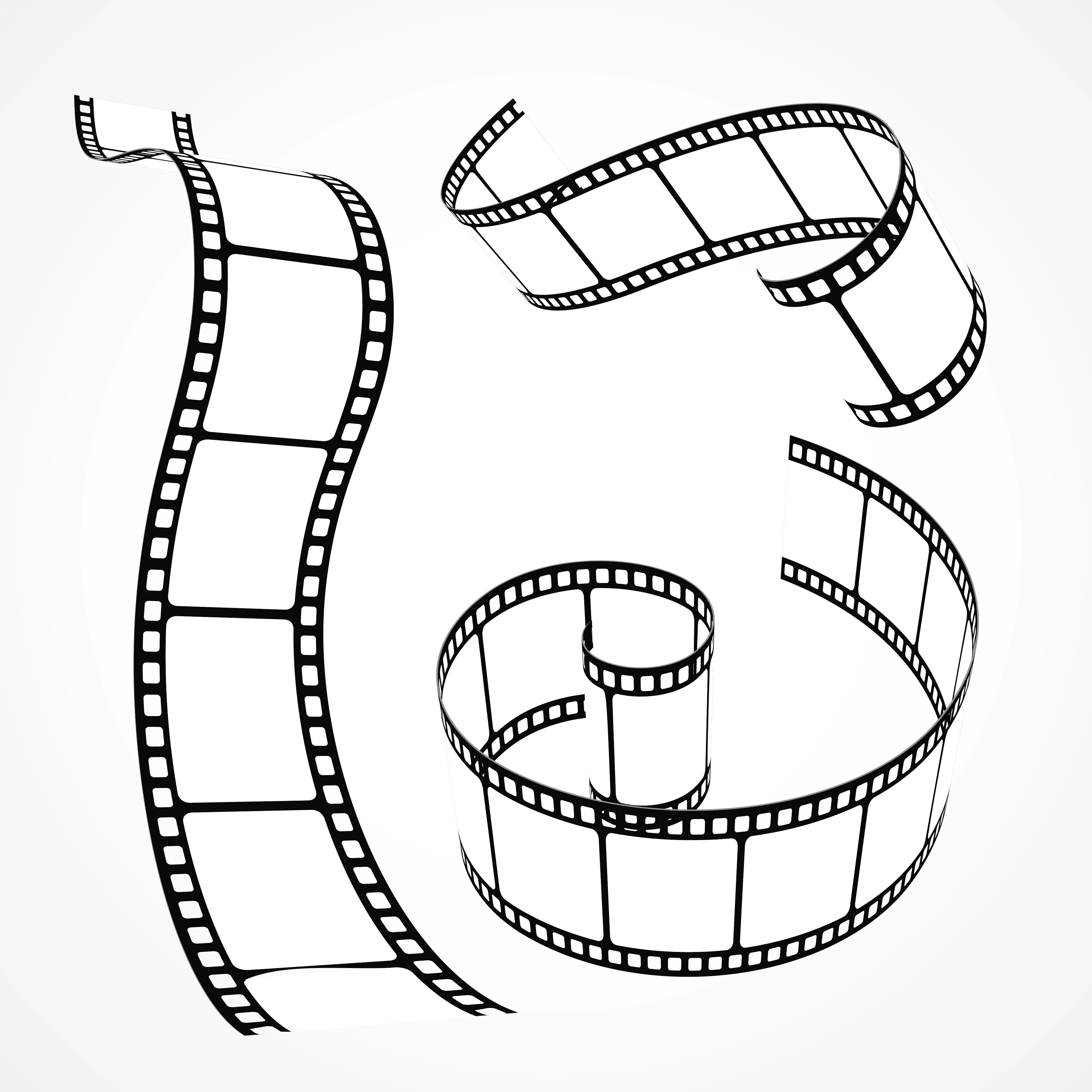 3d Vector Film Strip Collection