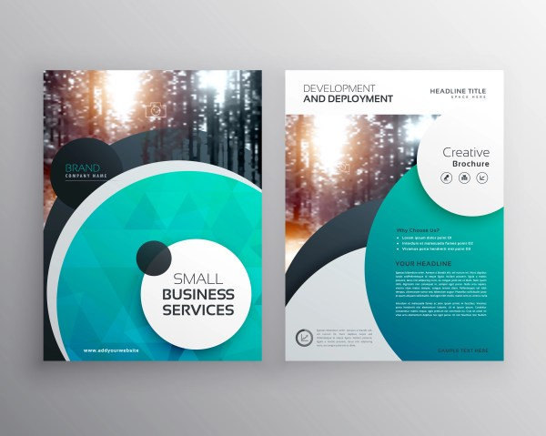 Creative Blue Business Flyer Brochure Design Template With