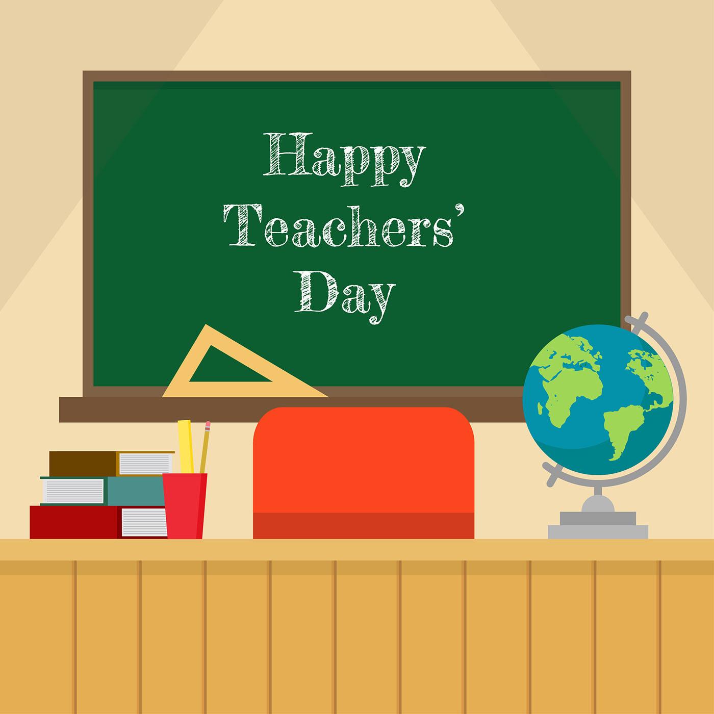 Teachers Day Classroom Vector  Download Free Vector Art Stock Graphics  Images