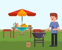 Backyard BBQ Vector - Download Free Vector Art, Stock ...