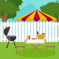 backyard barbecue Vector - Download Free Vector Art, Stock ...