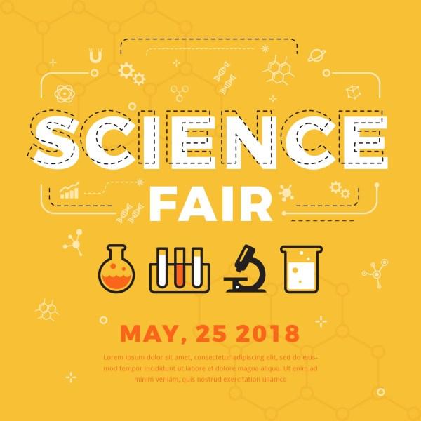 Science Fair Poster Vector - Free Art