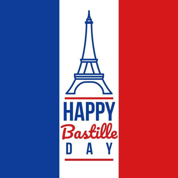 Happy Bastille Day - Free Vector Art Stock