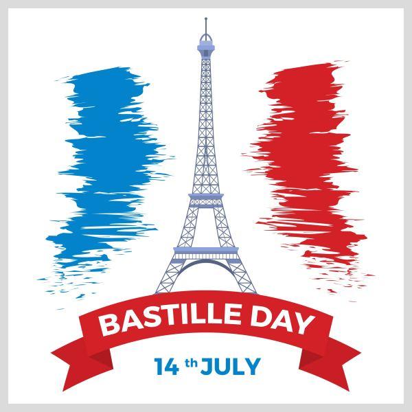 Flat Bastille Day Vector - Free Art Stock