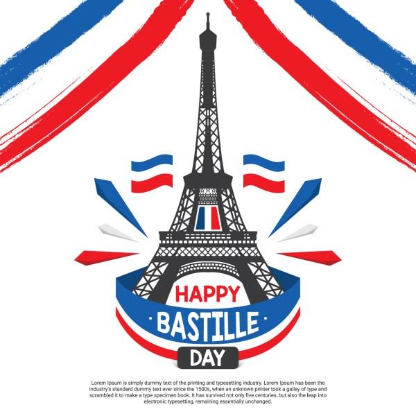 Bastille Day Illustration Vector - Free