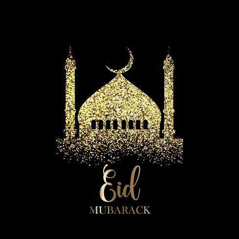 Glitter Eid Mubarak background  Download Free Vector Art