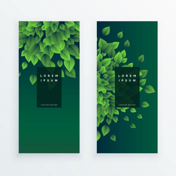 Set Of Two Nature Banners Background - Free