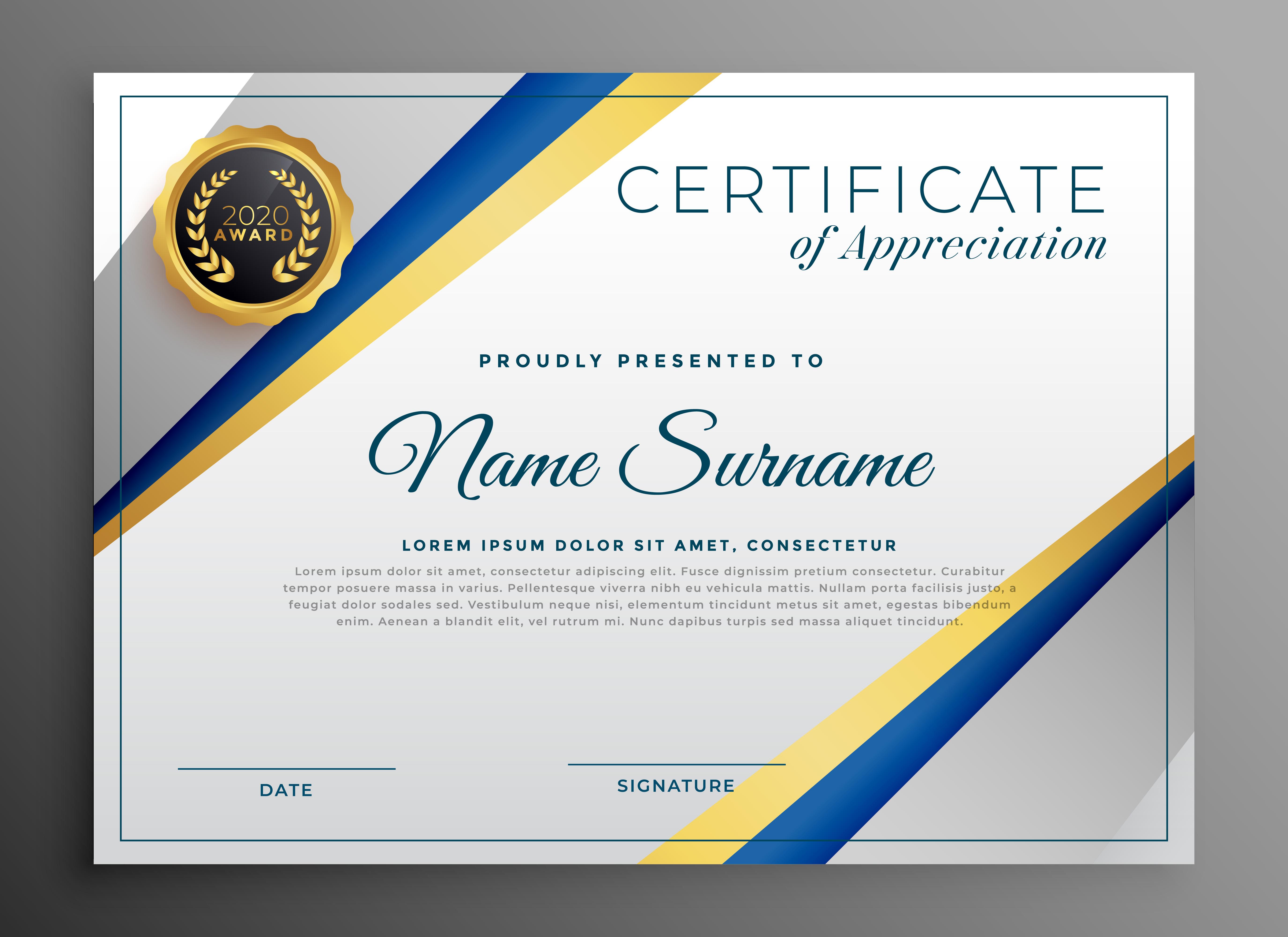 certificate background design