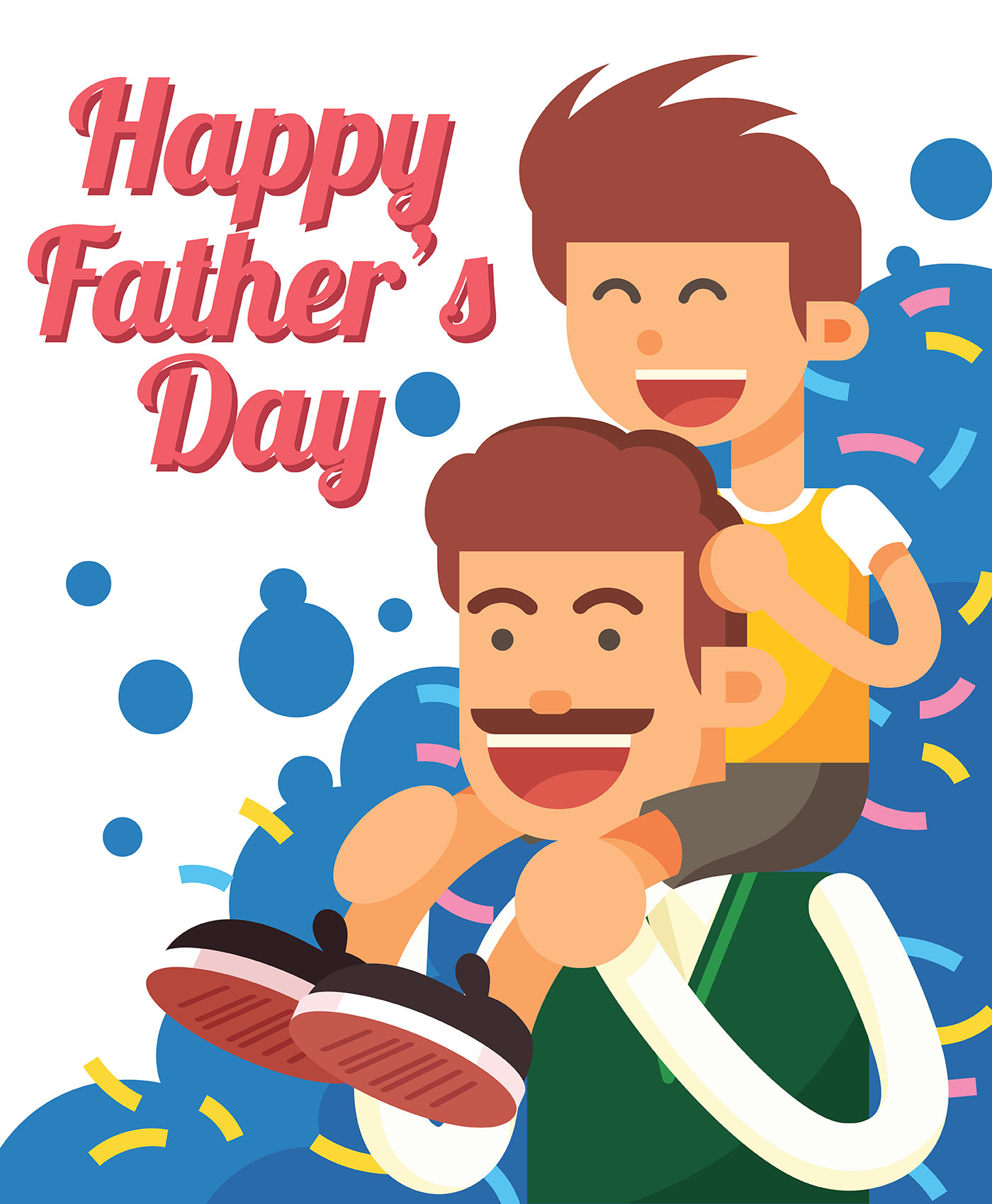 Happy Fathers Day Illustration