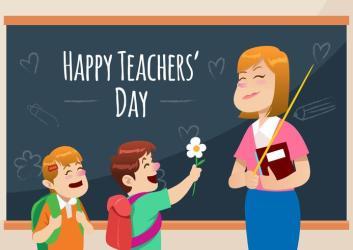teachers happy vector teacher clipart teaching card edit written