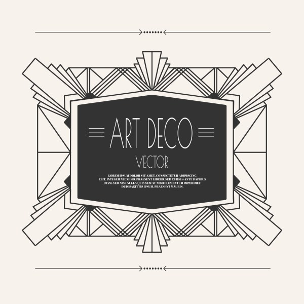 Art Deco Vector Frame