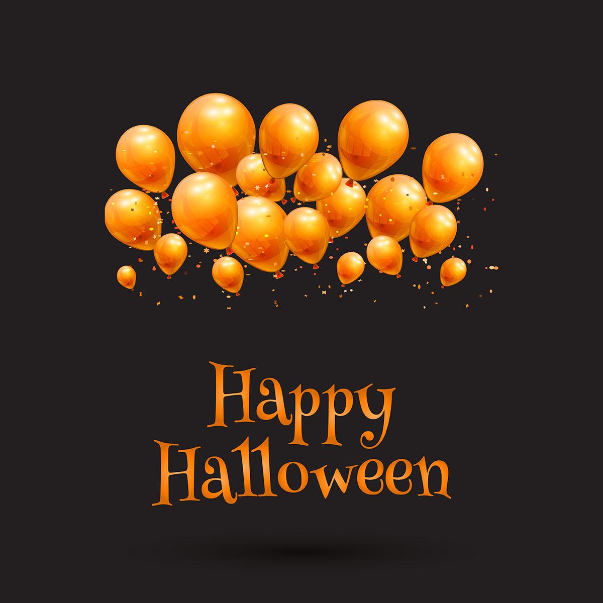 Happy Halloween Balloon Background Download Free Vectors