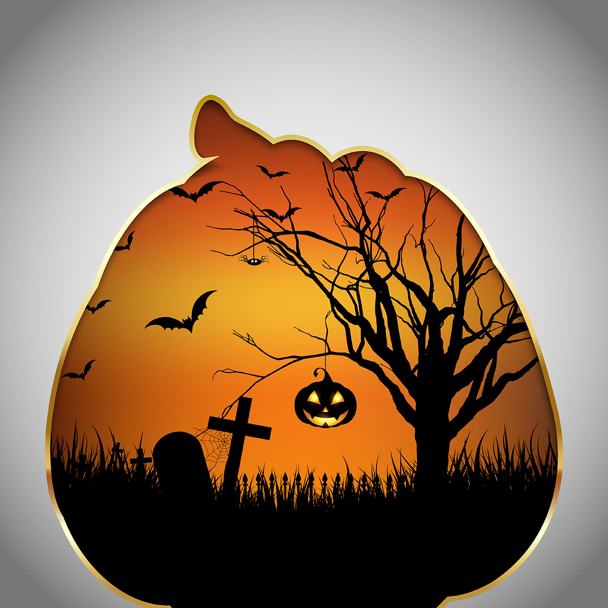 Halloween Background Pumpkin With Cut Out Shape