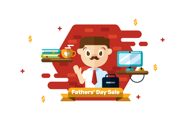 Fathers Day Vector - Free Vectors Clipart