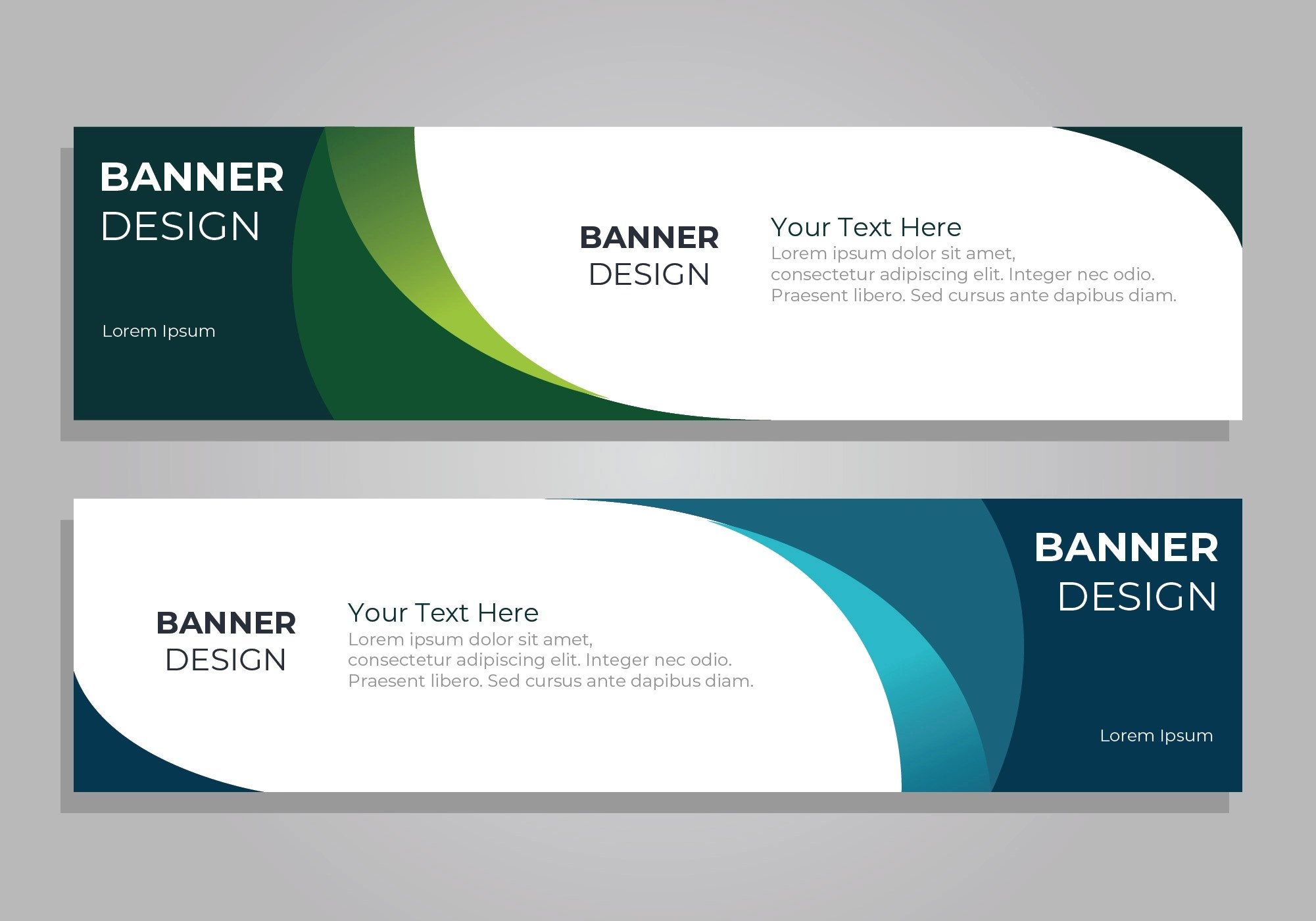 banner psd free vector