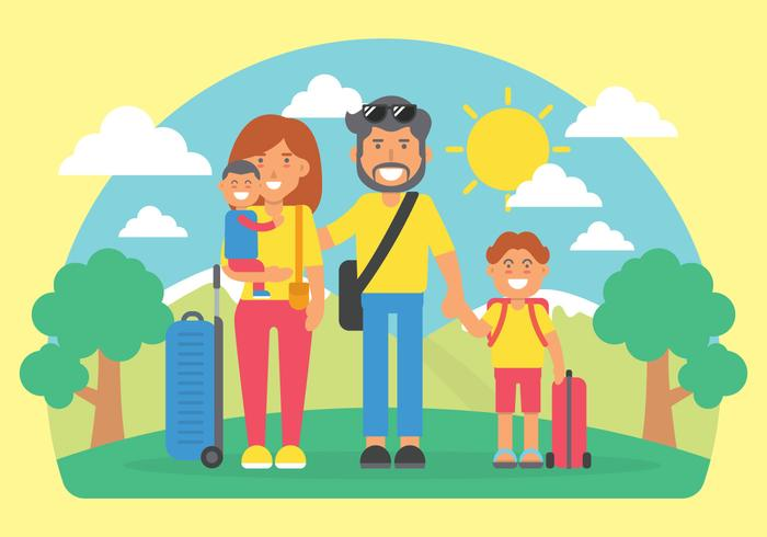 Family Vacation Vector Illustration Download Free Vectors Clipart Graphics Vector Art