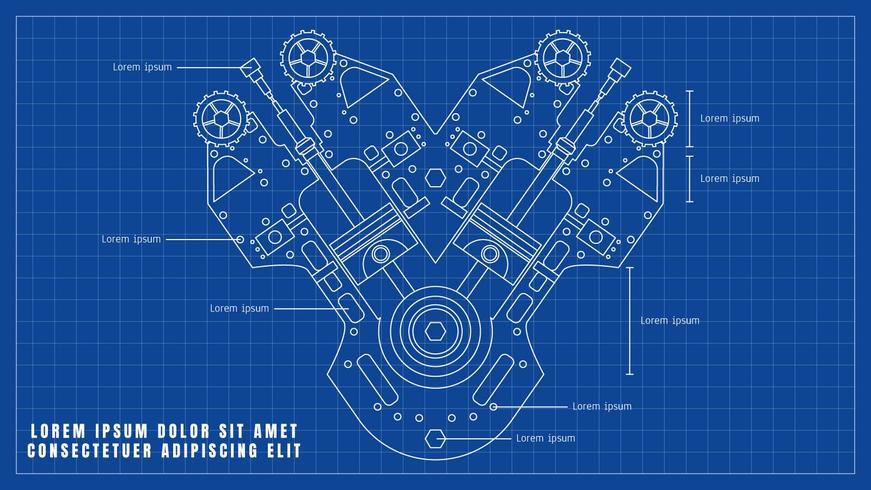 Iphone X Blueprint Wallpaper Beautiful Car Engine Drawing Vectors Download Free