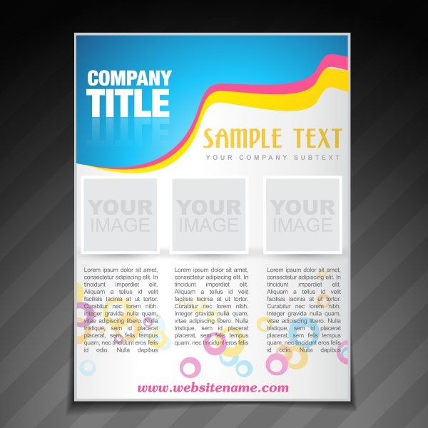 Modern Company Brochure Flyer Poster Template - Free Vector Art Stock Graphics &