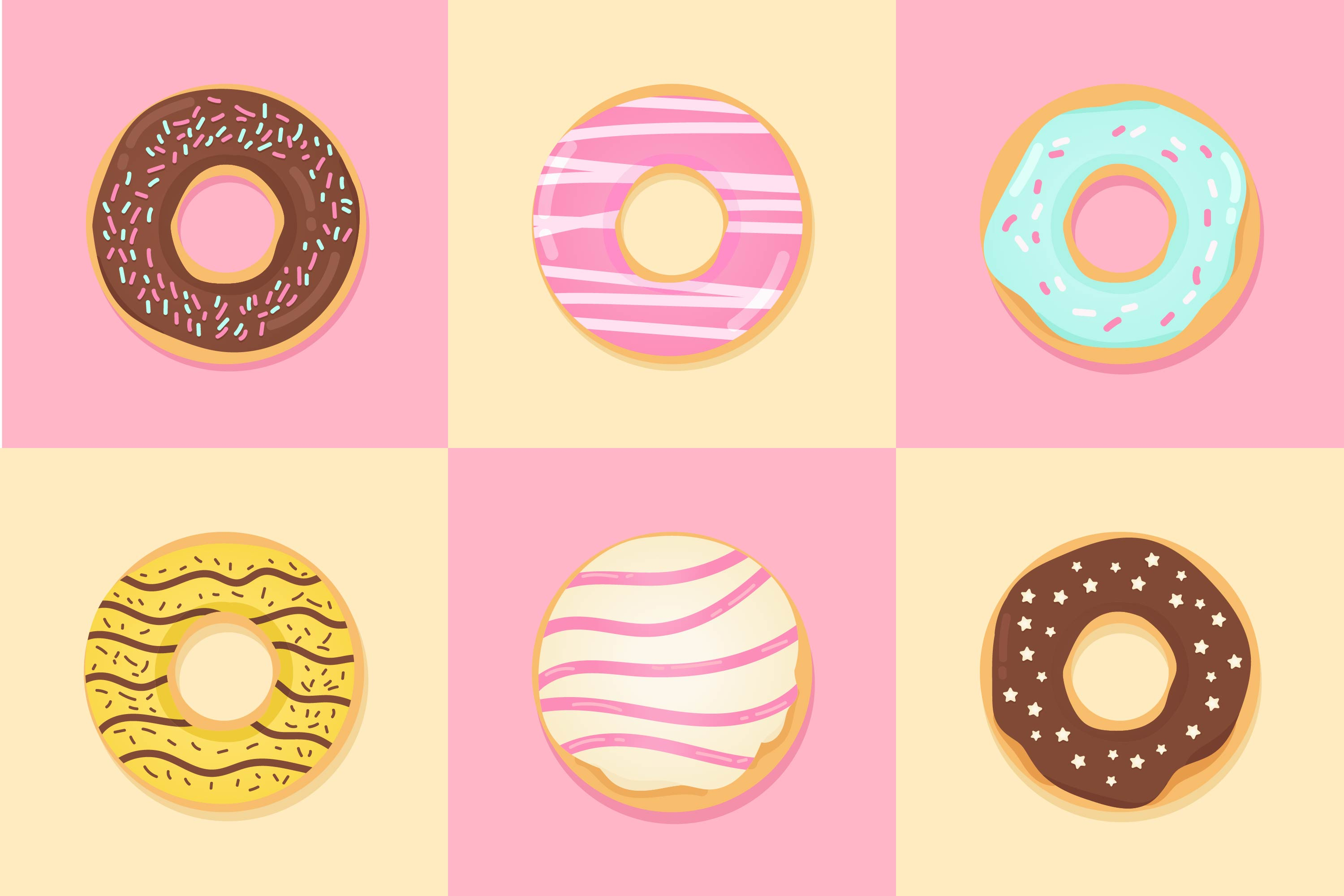 Chocolate Cute Wallpaper Cute Donut Free Vector Art 13520 Free Downloads