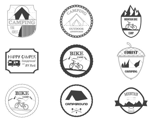set of retro badges