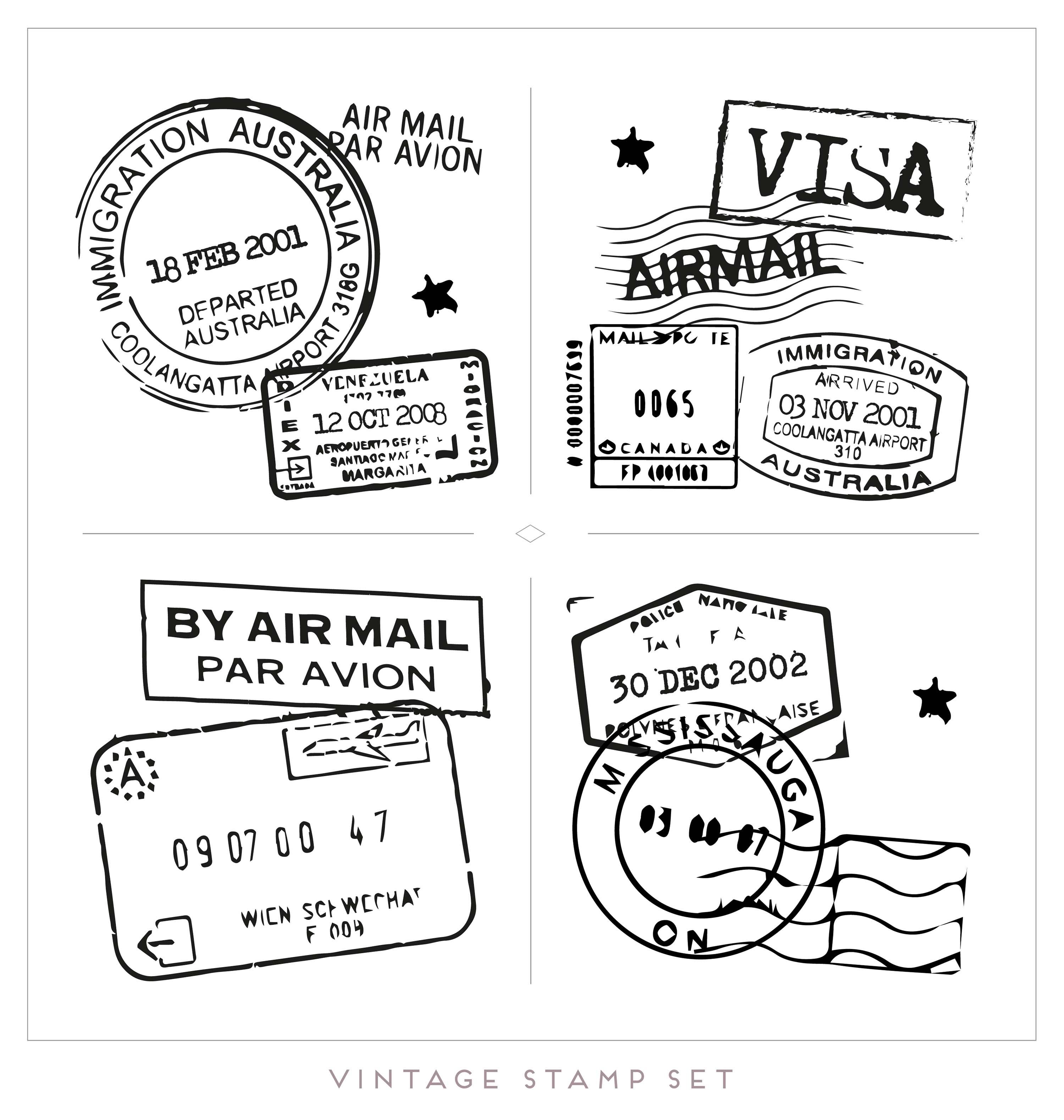 Passport Stamp Free Vector Art
