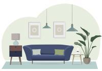 Vector Living Room Illustration - Download Free Vector Art ...
