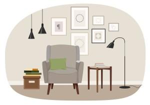 living illustration vector vecteezy interior clipart livingroom graphics vectors edit