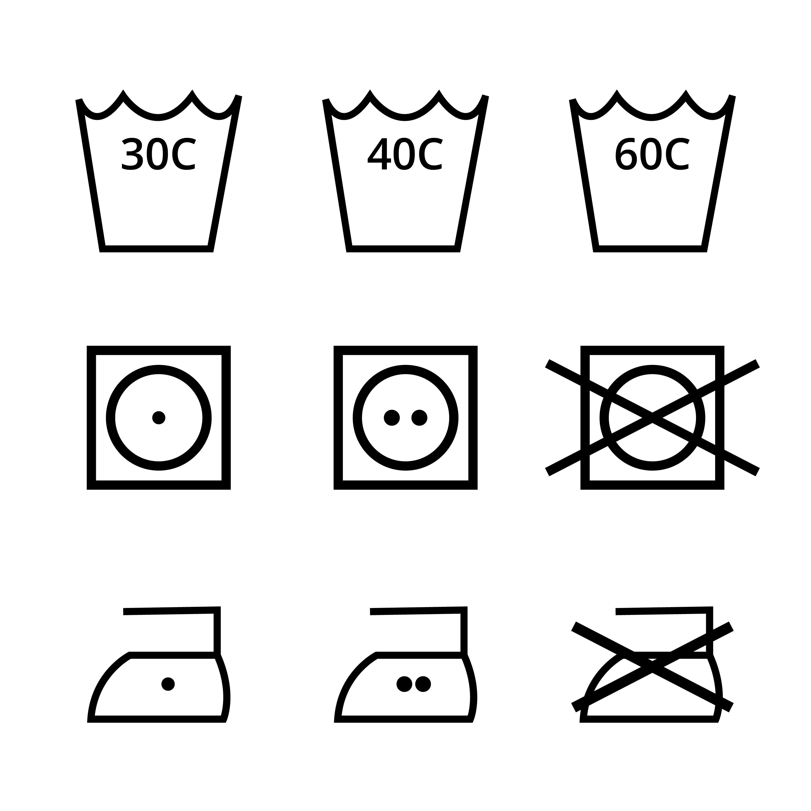 Washing Symbol Vector Pack