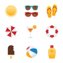 Free Summer Icon Vector Set - Art