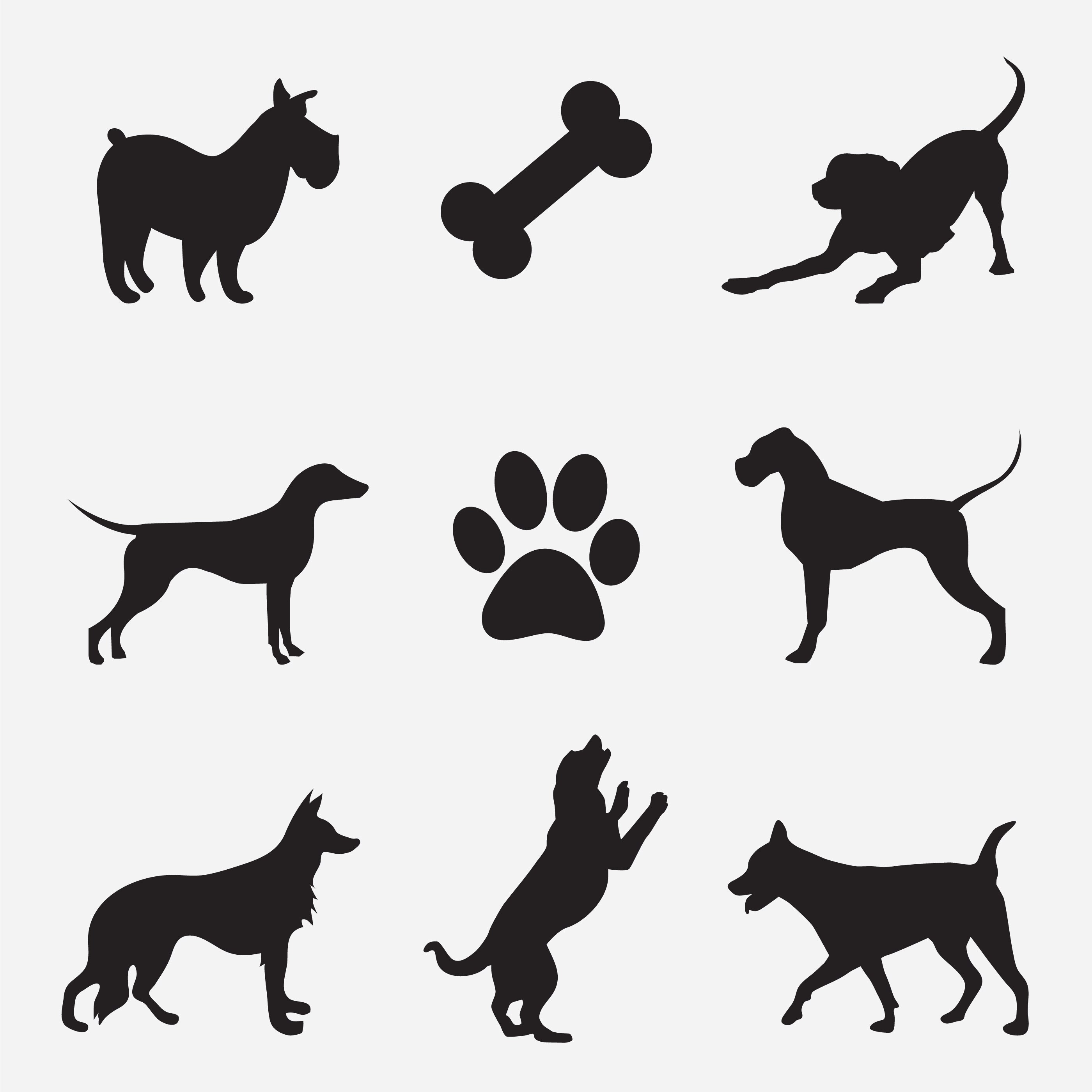 Dog Vector Silhouette