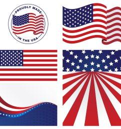 american flag clipart vector [ 2800 x 2800 Pixel ]