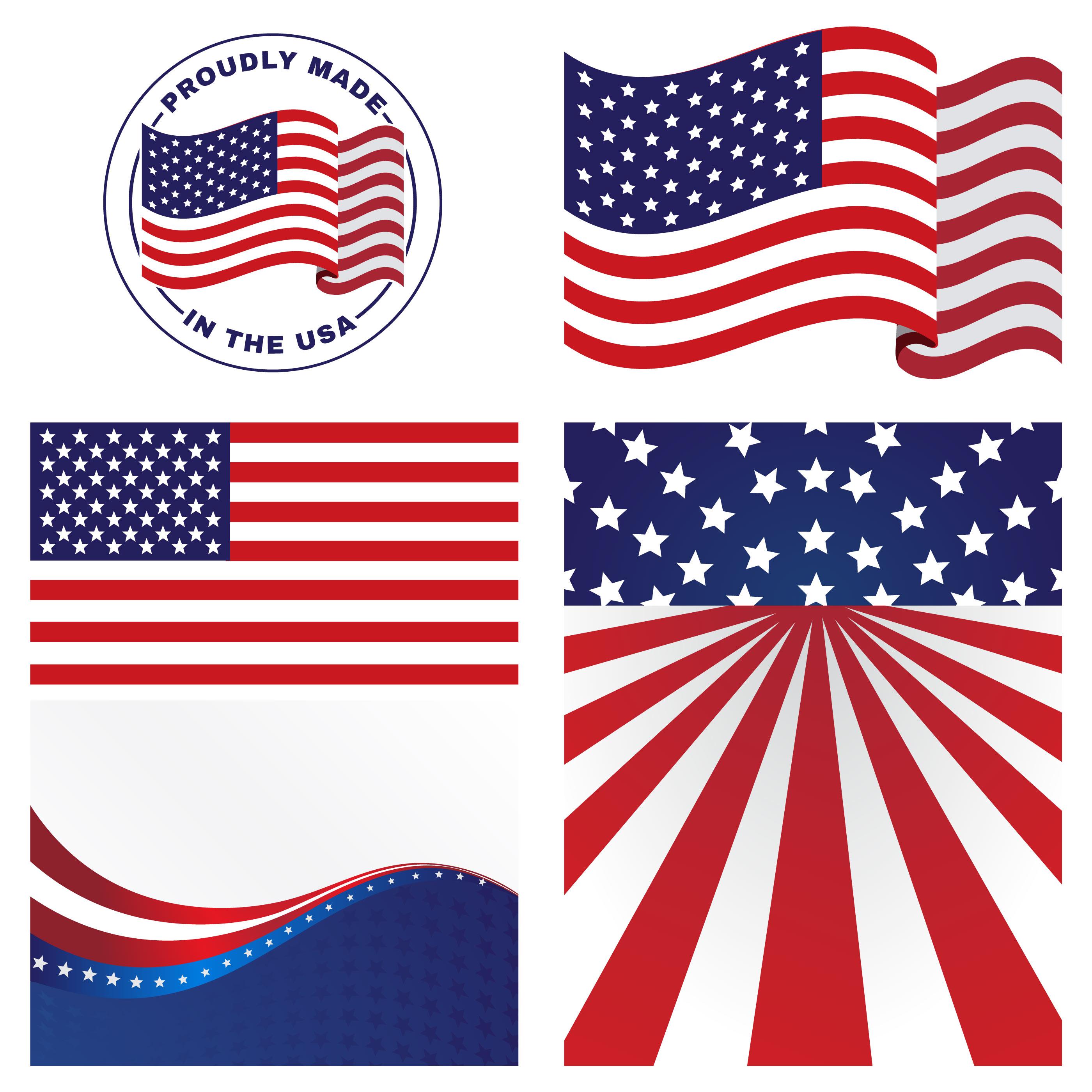 Us Flags Vectors Download Free Vector Art Stock
