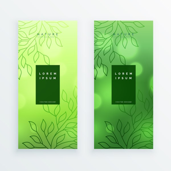 Awesome Green Leaves Vertical Banners - Free