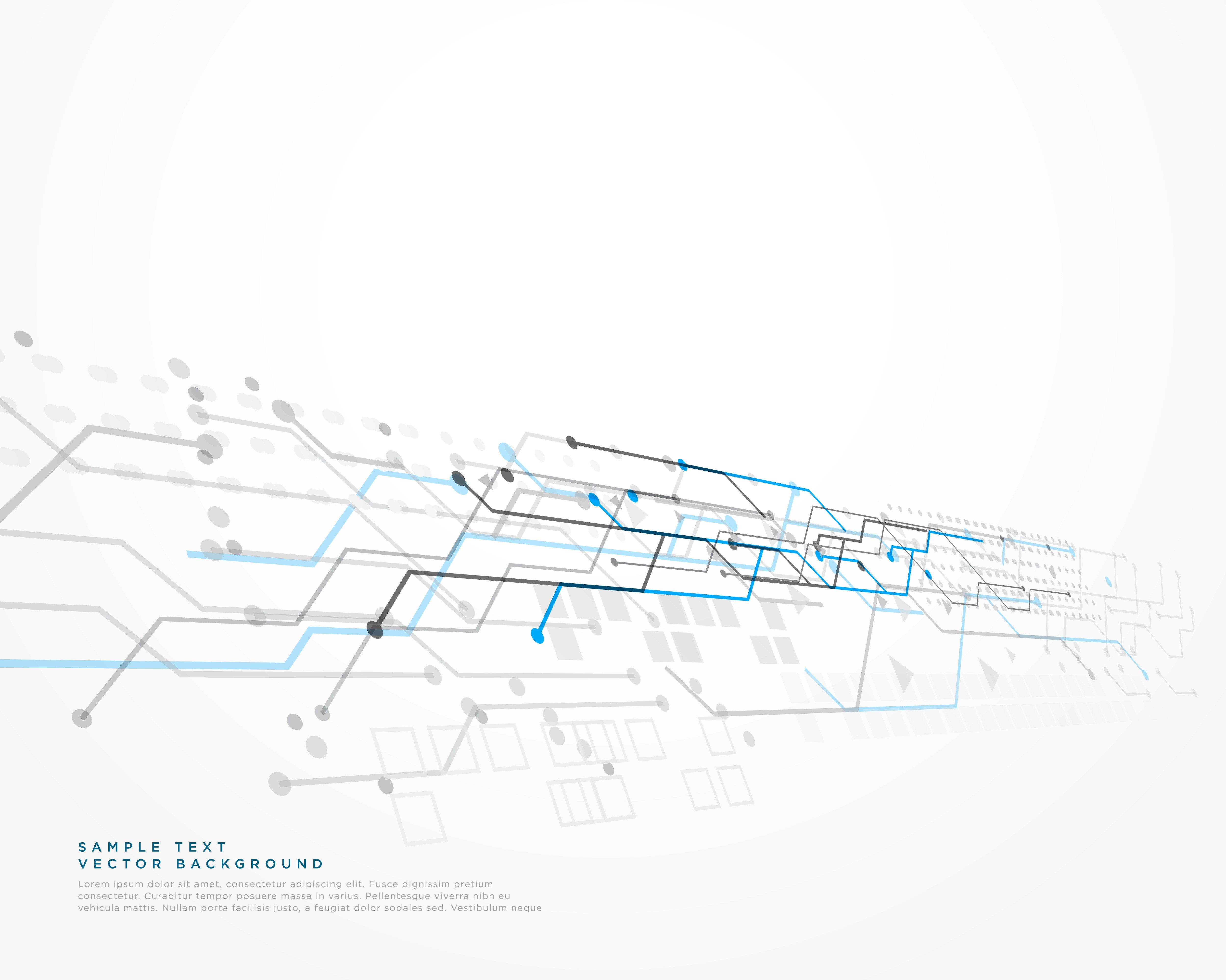 White Technology Background With Mesh Diagram