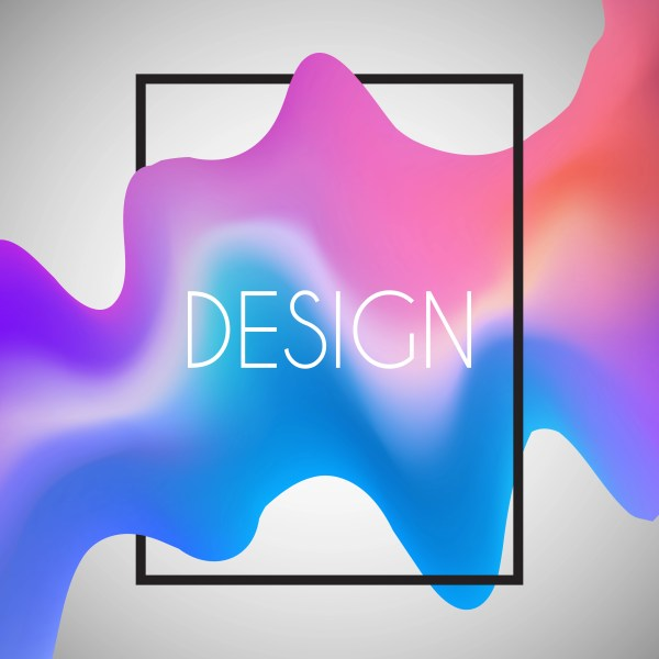 Abstract Background With 3d Shape In White Frame