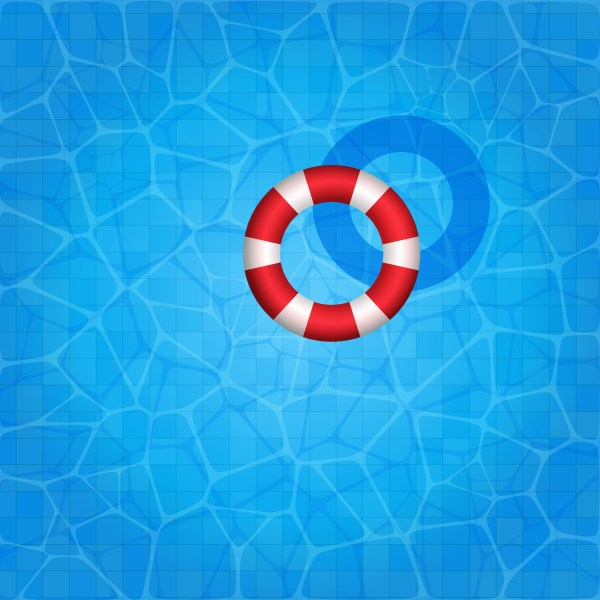 Swimming Pool With Rubber Ring Floating