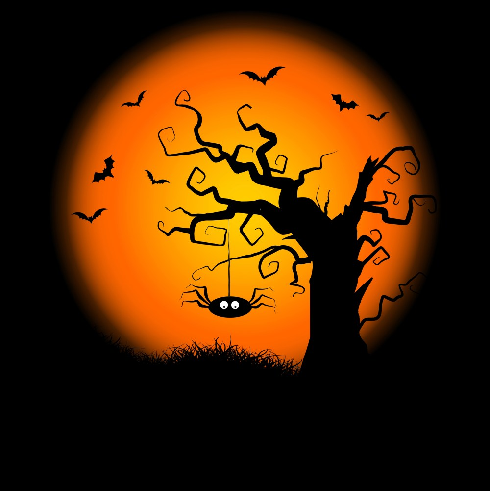 medium resolution of spooky halloween tree background download free vector art stock graphics images